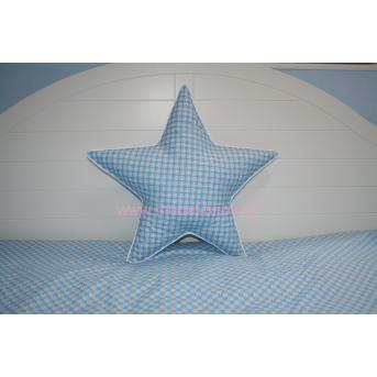 Подушка Звездочка голубая