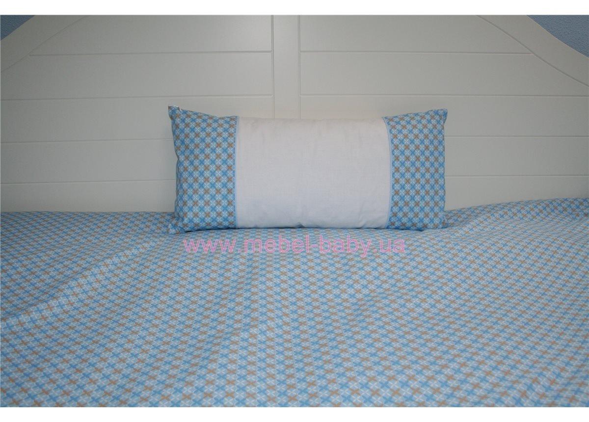 Подушка 50х25 голубая