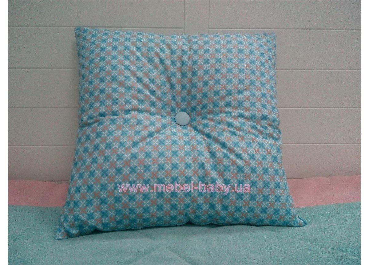 Подушка 40х40 голубая