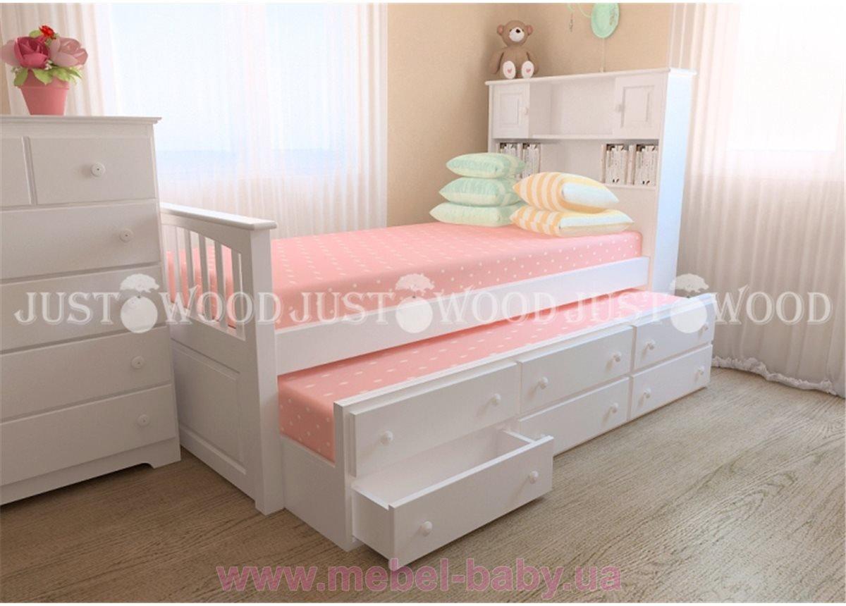 Кровать детская Папа Карло с дополнительным спальным местом и ящиками 90x190
