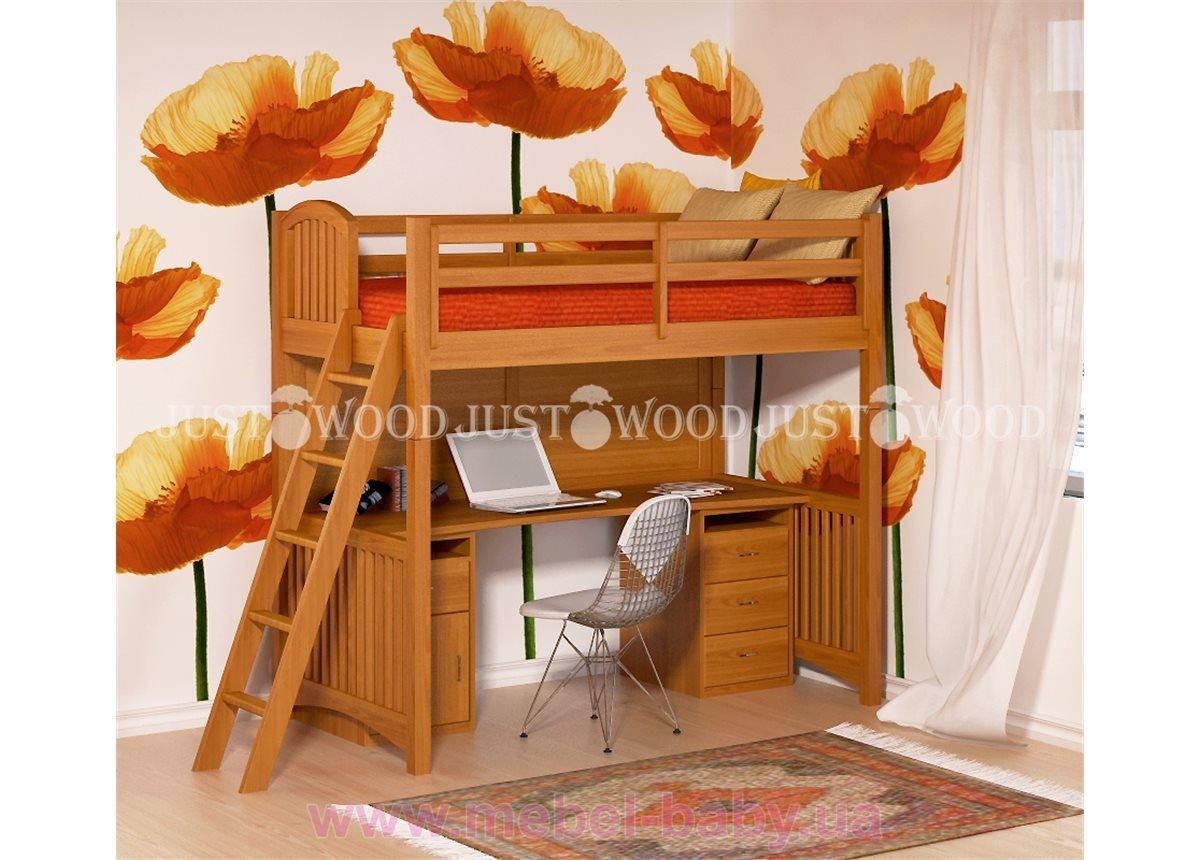 Кровать детская двухъярусная чердак Марли