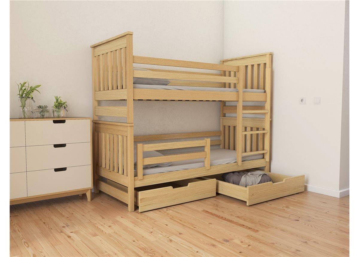 Кровать двухъярусная-трансформер Адель Duo (масcив) Луна 80x190