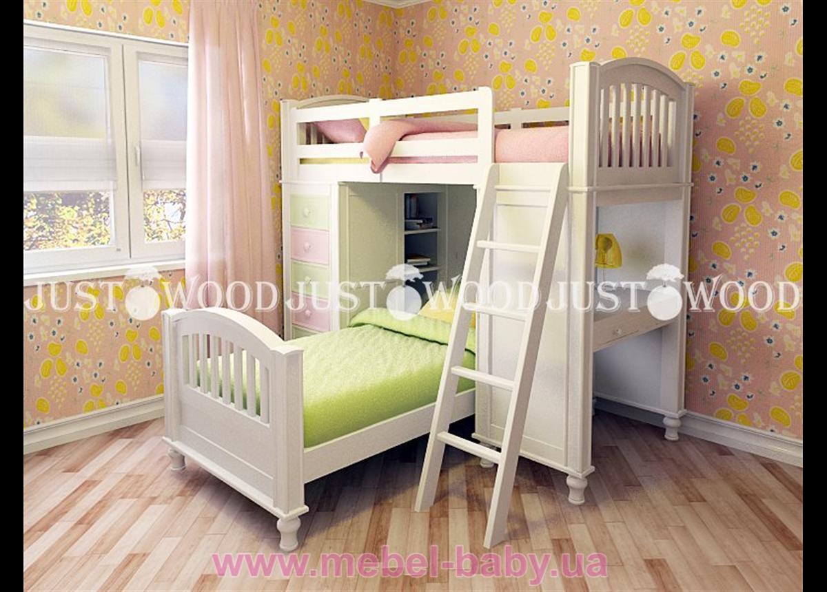 Кровать детская двухъярусная Гуффи 1
