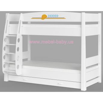 180 Двухъярусная кровать Серия Cтроитель