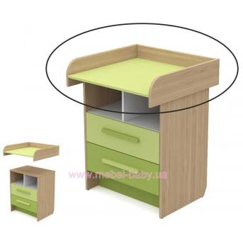 Пеленатор кв-09-2 Акварели Зеленые Briz 72 см