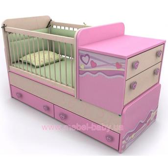 Кроватка-трансформер для новорожденных Pn-30 Briz 70x120