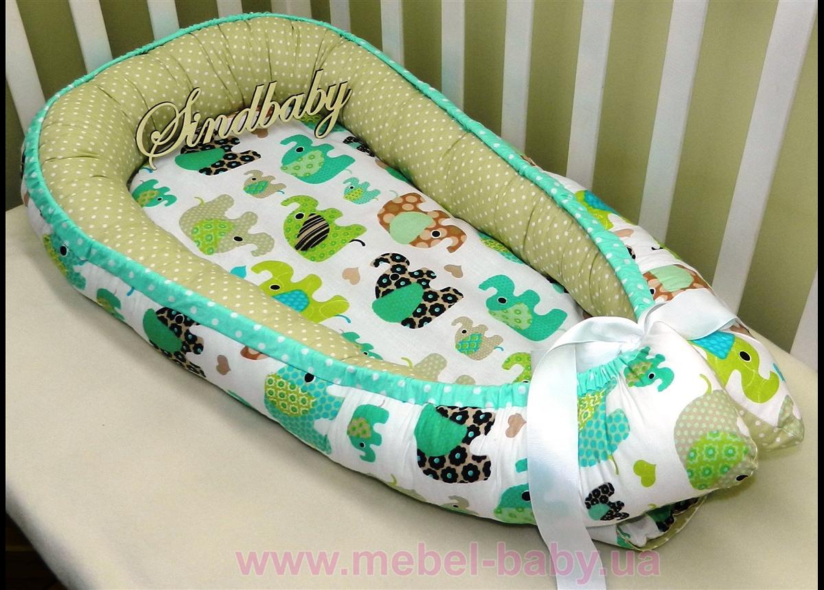 Гнездышко кокон позиционер для новорожденного BabyNest - 02