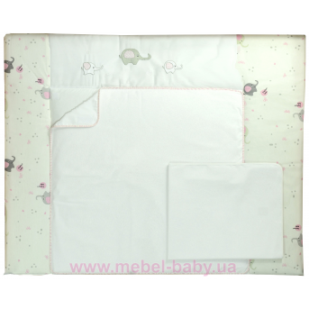 """Пеленальный матрас (72*80) Veres""""pink Elephant"""""""