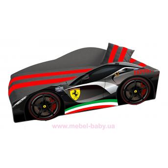 Кровать-машина Ferrari E-2 Элит Viorina-Deko 80x170 мягкий спойлер + подушка + газлифт