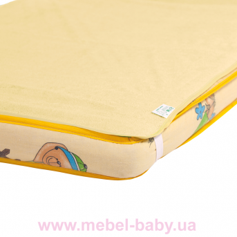 Наматрасник-пеленка 2в1 ЭКОПУПС Classic размер 60х80 см. (Желтый) КНАМ6080ж