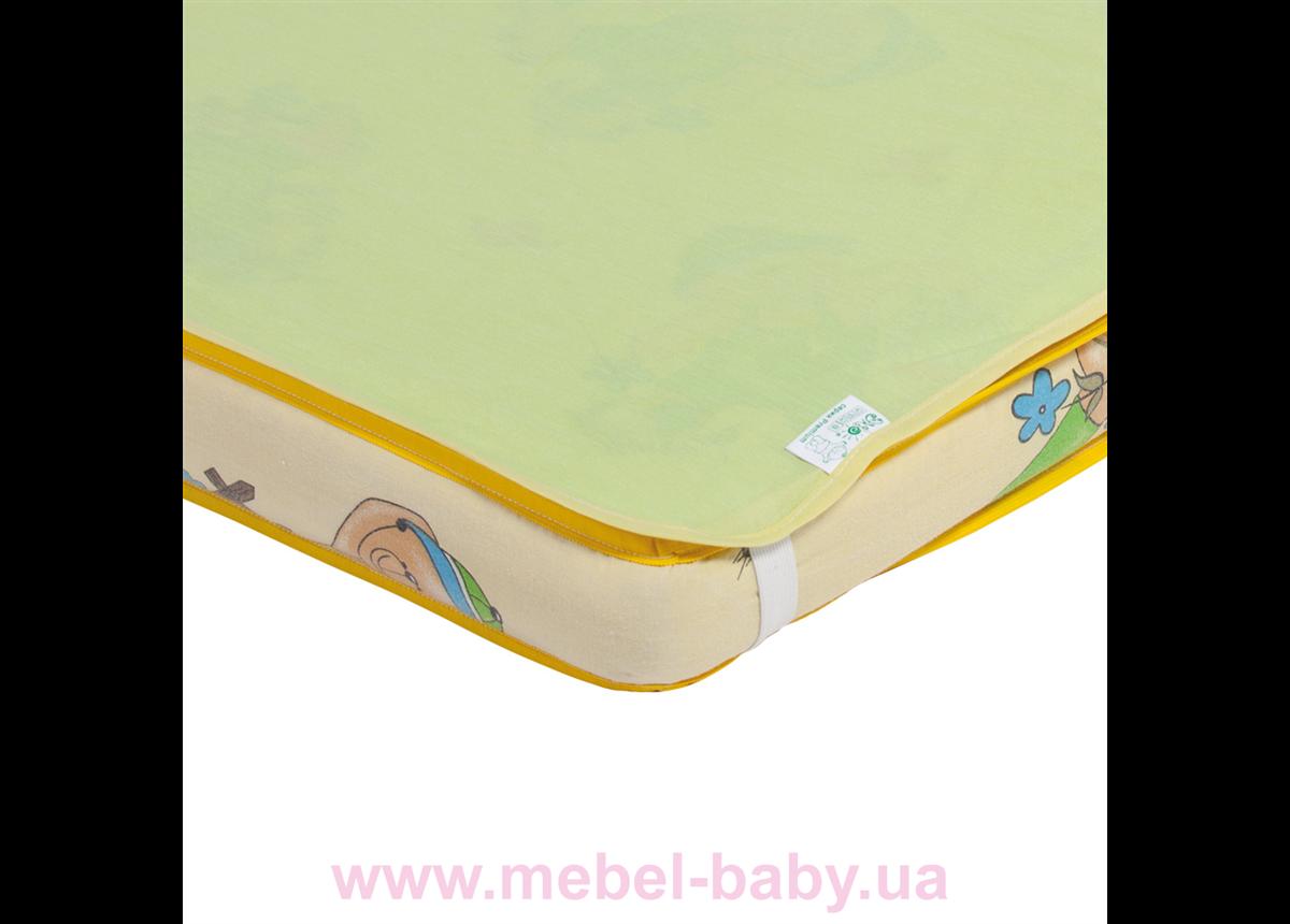 Наматрасник-пеленка 2в1 ЭКО ПУПС Premium размер 60х80 см. (Зеленый) ПНАМ8060з
