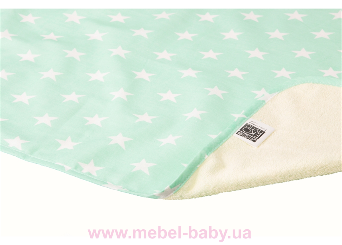 Пеленка двустороняя непромокаемая ЭКО ПУПС Eco Cotton р.50х70 см. (Звезды)