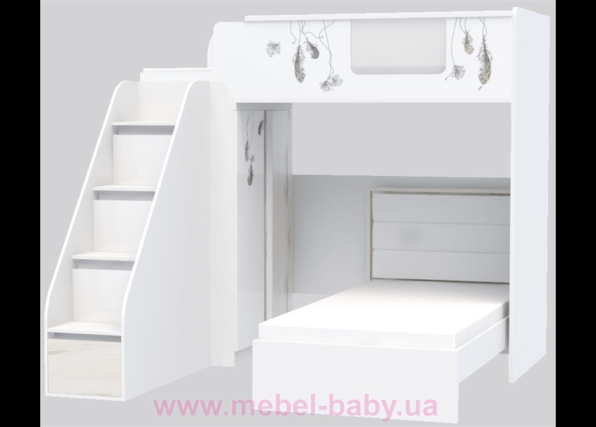 Кровать чердак Модуль I-M-001 Indi 90x190 Эдисан