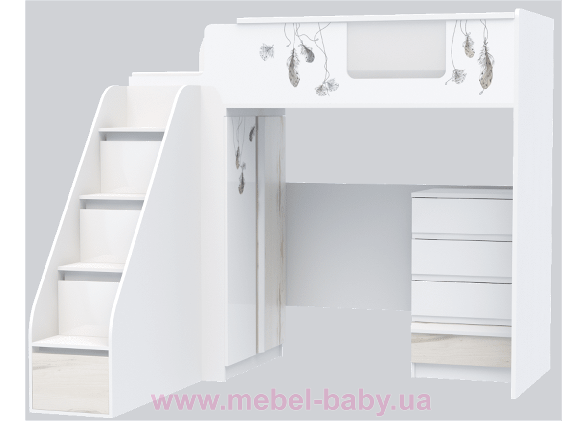 Кровать чердак Модуль I-M-002 Indi Эдисан
