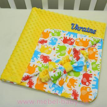 Детский плюшевый плед-конверт Minky с хлопком Sindbaby 90х90см