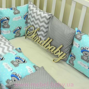 Бортики в кроватку Комплект №1 Sindbaby