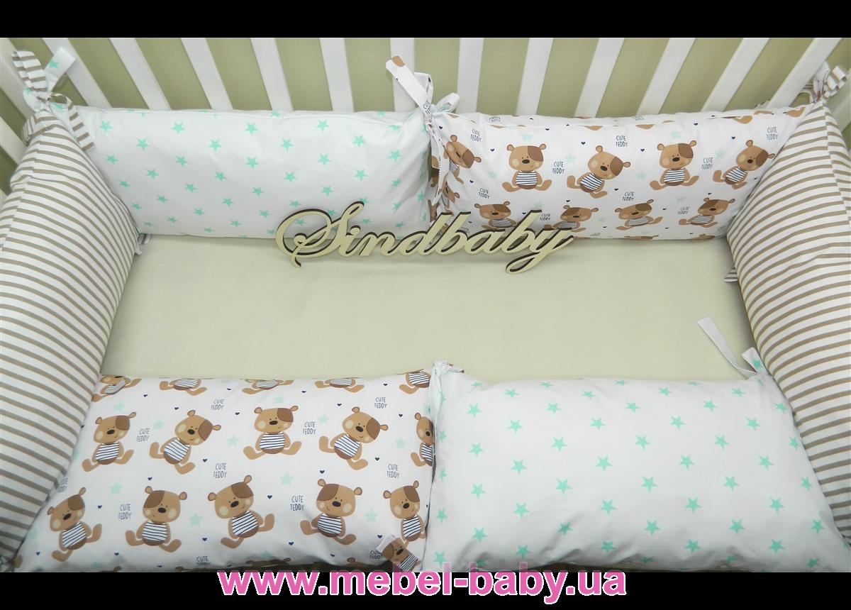Бортики в кроватку Комплект №15 Sindbaby