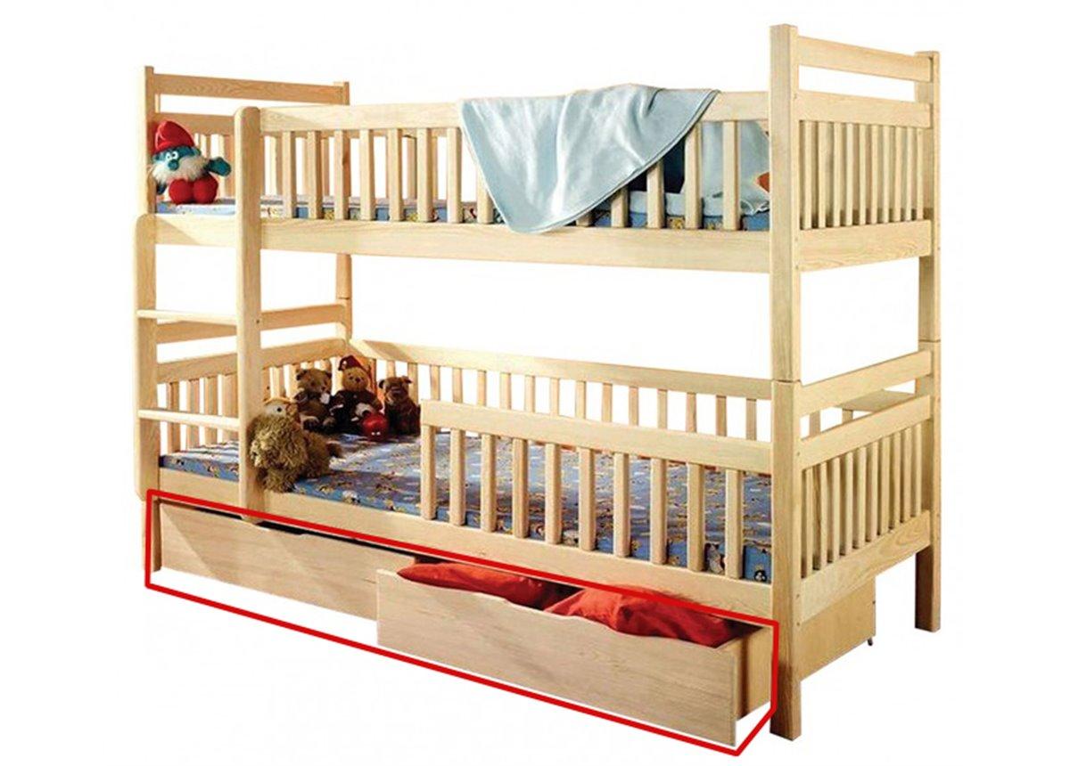 Ящики к двухъярусной кровати Том и Джерри Дримка корпус массив бука и фасад массив бука