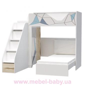 Двухъярусная кровать O-M-001 Origami Эдисан 90x190 белый