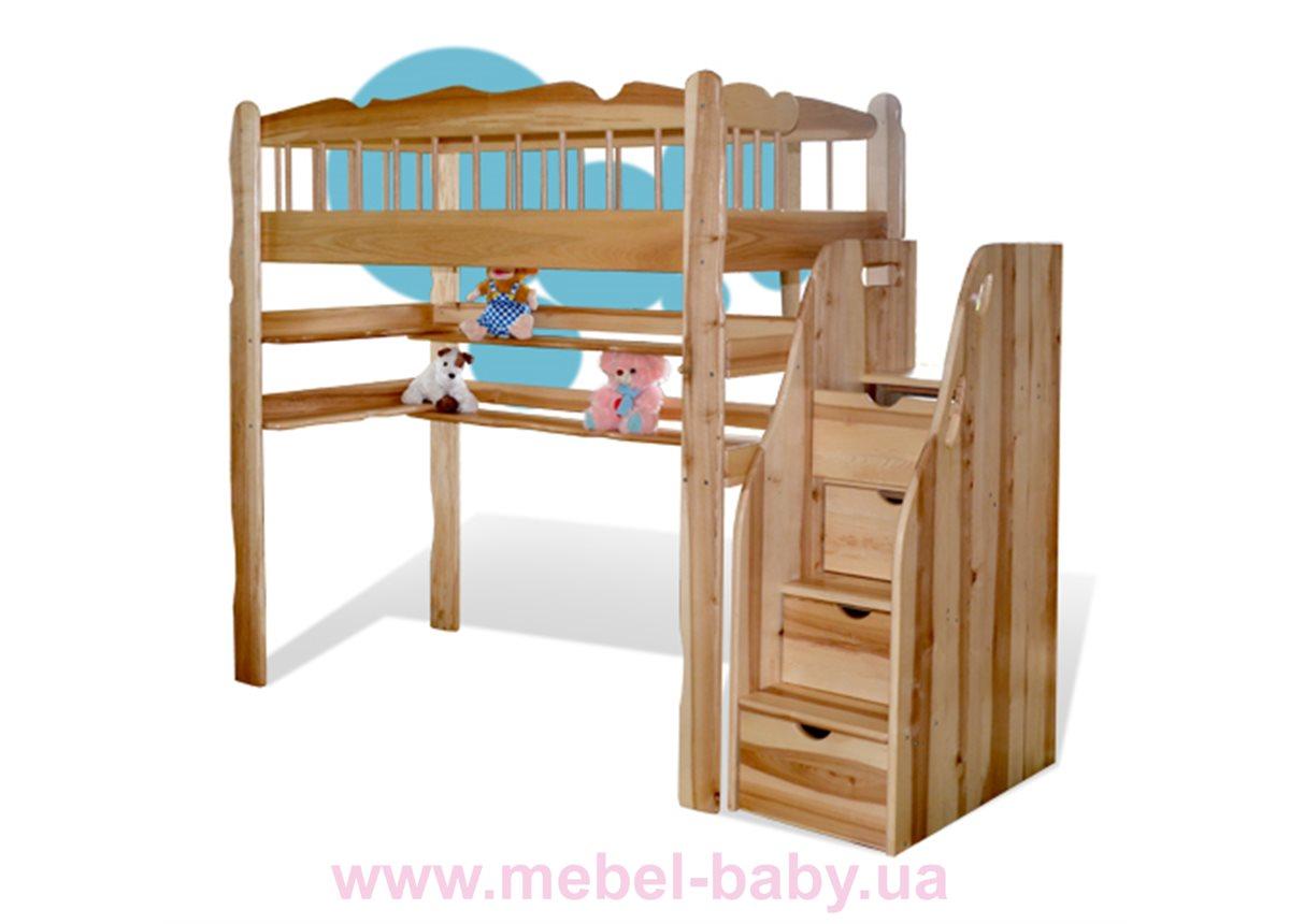 Детская кровать-чердак Капитошка Sokira