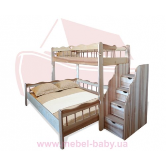 """Двухьярусная кровать """"Ковчег"""" 80*190 Sokira"""