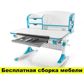 Стол Evo-kids Aivengo (M) Blue (арт.Evo-700 WB) - столешница белая / накладки синие