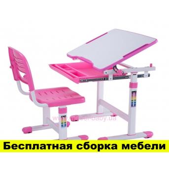Комплект FunDesk Парта и стул-трансформеры PICCOLINO PINK