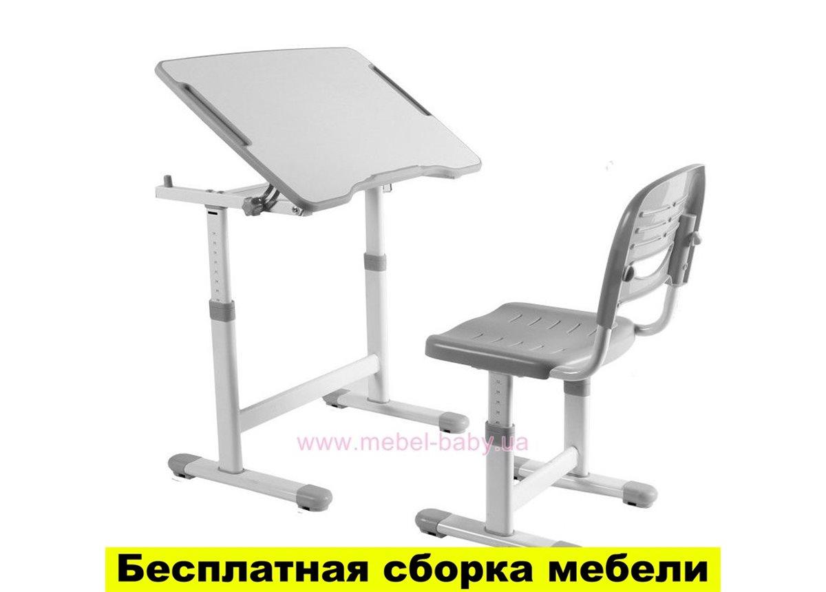 Комплект FunDesk Парта и стул-трансформеры PICCOLINO II GREY