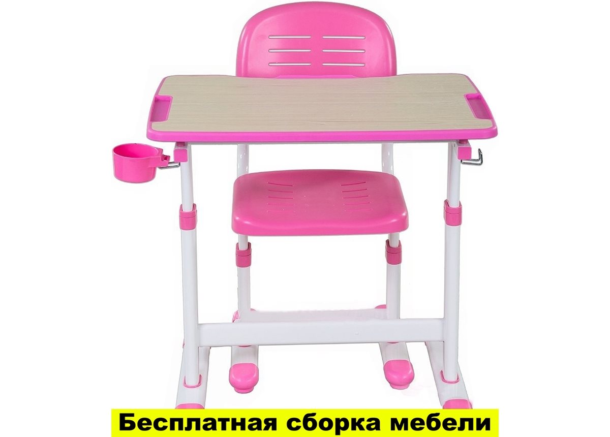 Комплект FunDesk Парта и стул-трансформеры PICCOLINO ІІ PINK