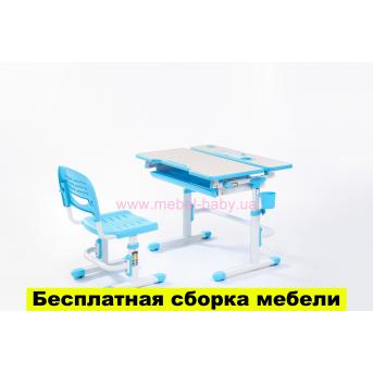 Комплект FunDesk Парта и стул-трансформеры Lavoro Blue