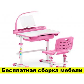 Комплект Evo-kids (стул+стол+полка+лампа) Evo-17 PN с лампой