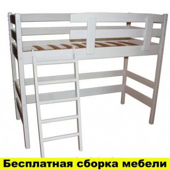 Кровать-чердак низкая Снови Белая Ирель 150