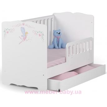 Распродажа_Не качающаяся кроватка для новорожденных Baby Серия Magic Princess 431 Meblik Белый 70х140 с ящиком
