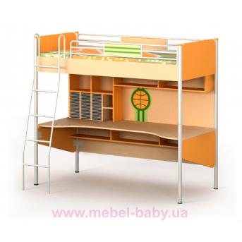 Кровать-чердак со столом Bs-16-1 Briz