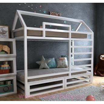 Двухъярусная кровать Джули 80х160 MegaОПТ