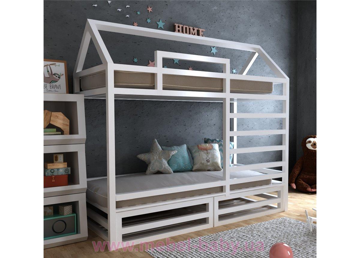 Двухъярусная кровать Джули 90х190 MegaОПТ