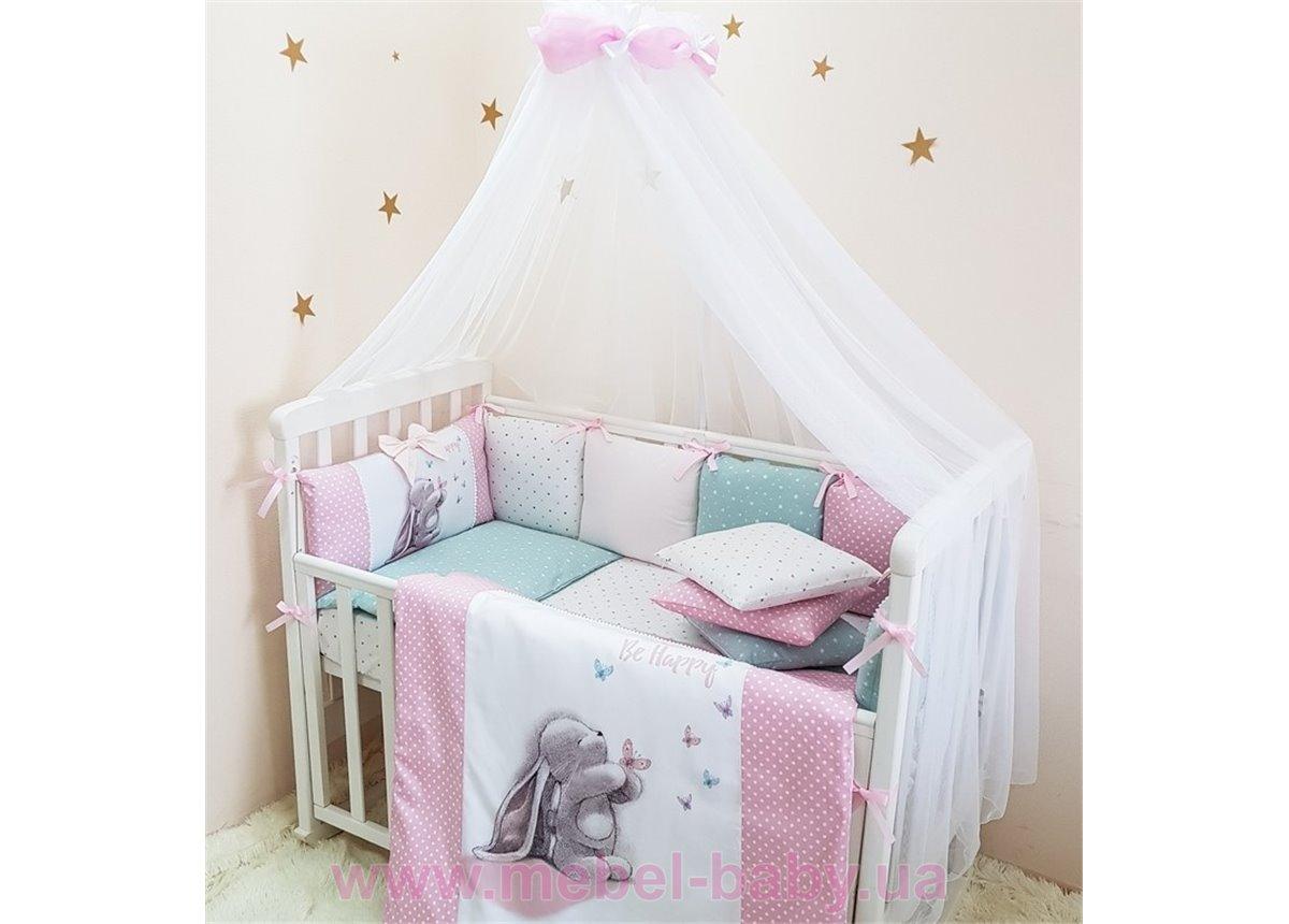 Сменный комплект постельного белья Akvarel Зайка с бабочками Маленькая Соня