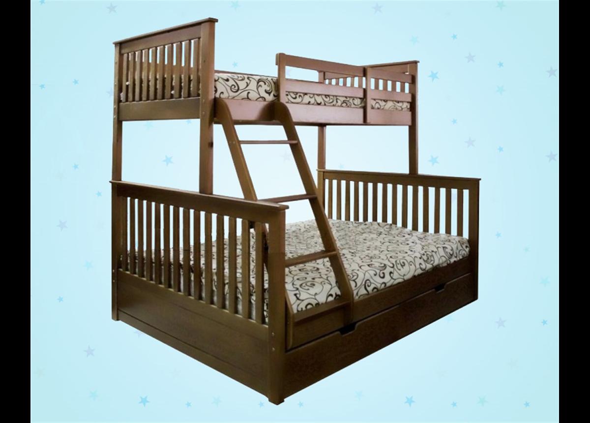 Двухъярусная кровать-трансформер Олимп Дервета 80x190