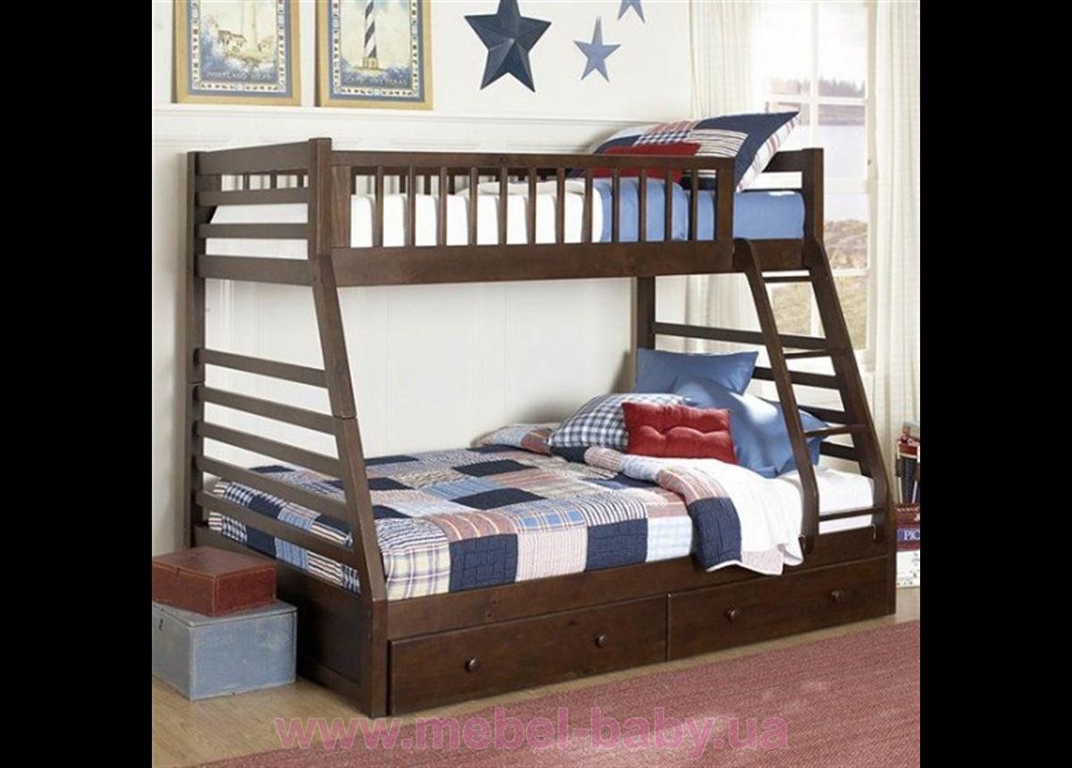 Двухъярусная кровать-трансформер Монтана Дервета 80x190