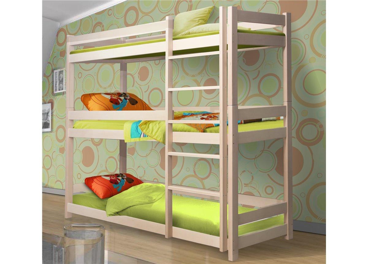 Кровать трехъярусная Мейвис Мистер Мебл 90x200