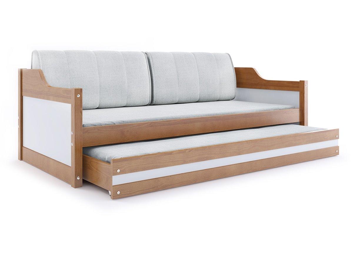 Кровать + доп. место + 2 матраса +2 подушки DAWID Trundle BMS Group 90x200