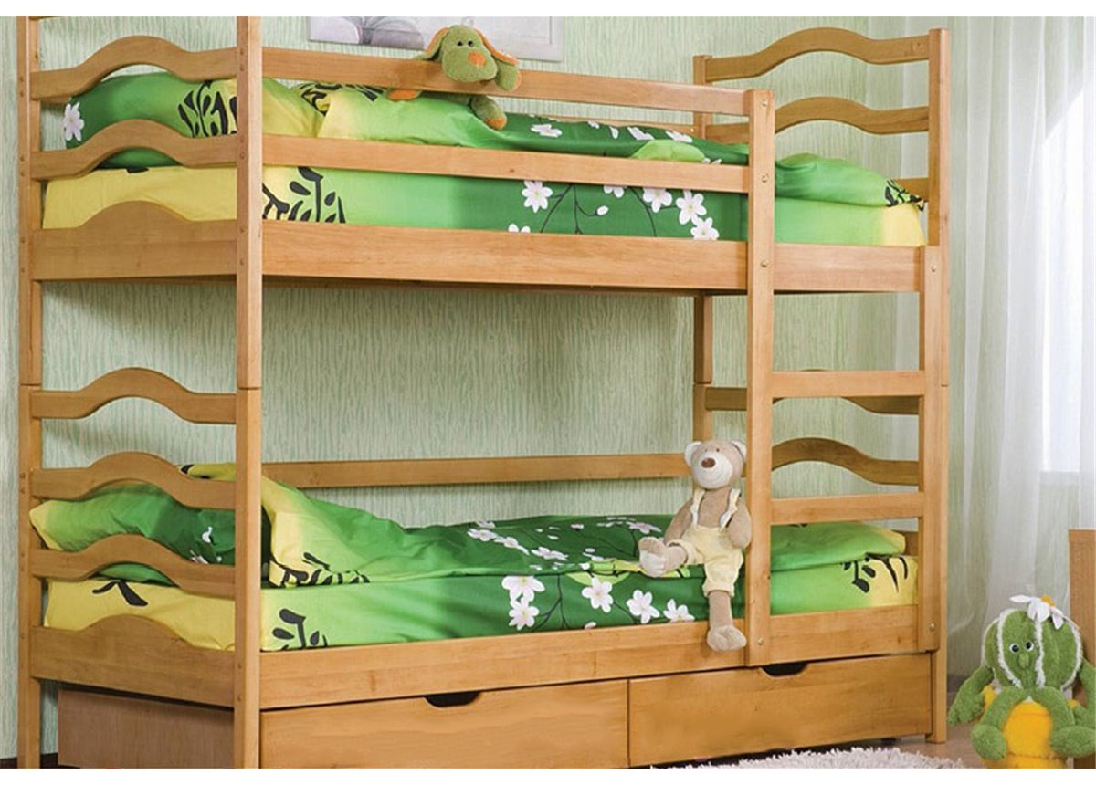 Двухъярусная кровать София (без выдвижных ящиков) Венгер 80x190
