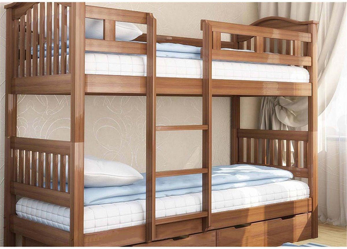 Двухъярусная кровать Максим (с ящиками) Венгер 90х200 Дерево