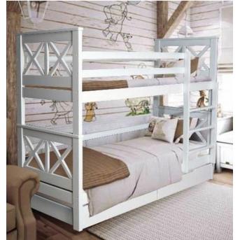 Двухъярусная кровать Лея Мистер Мебл 80x190