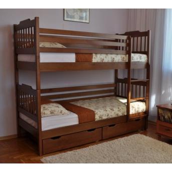 Двухъярусная кровать Ева (с ящиками) Венгер 80х190
