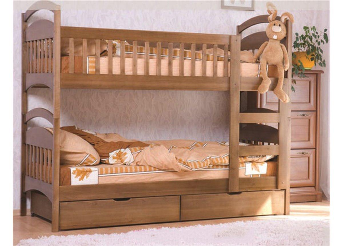 Двухъярусная кровать Арина (с ящиками) Венгер 80х190 Дерево
