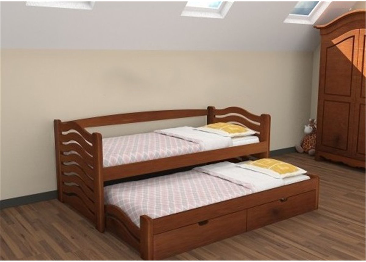 Кровать Мальвина с выдвижным спальным местом Дримка 90x200