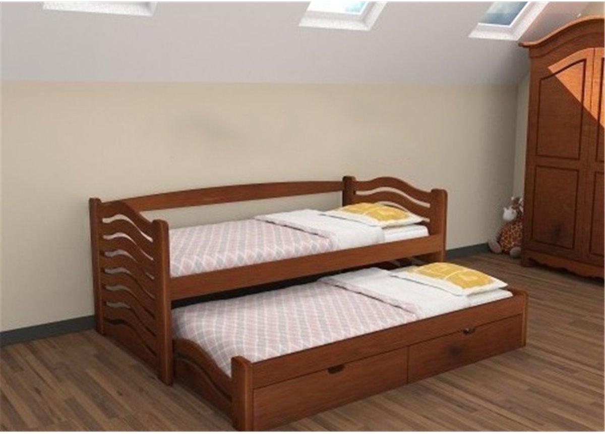 Кровать Мальва с выдвижным спальным местом Дримка 90x190