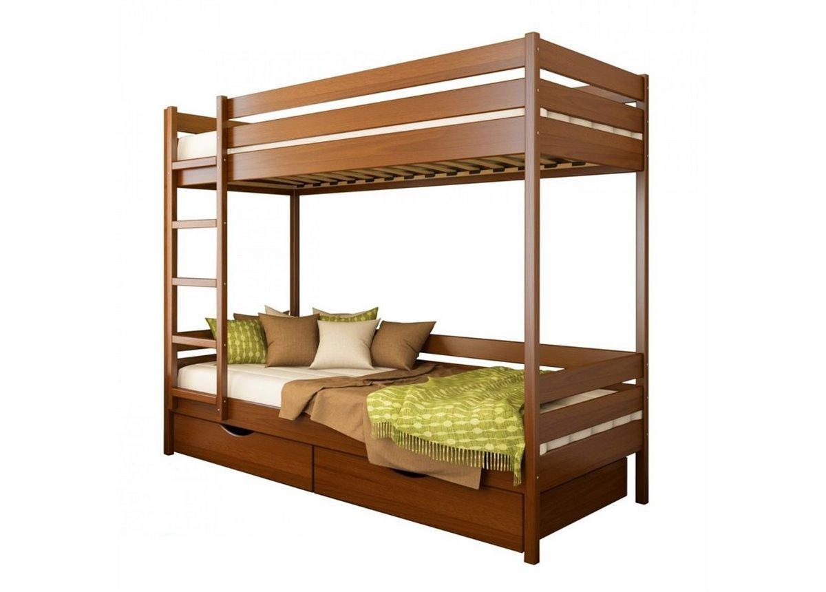Двухъярусная кровать Дуэт щит бука Эстелла 90х200 Щит