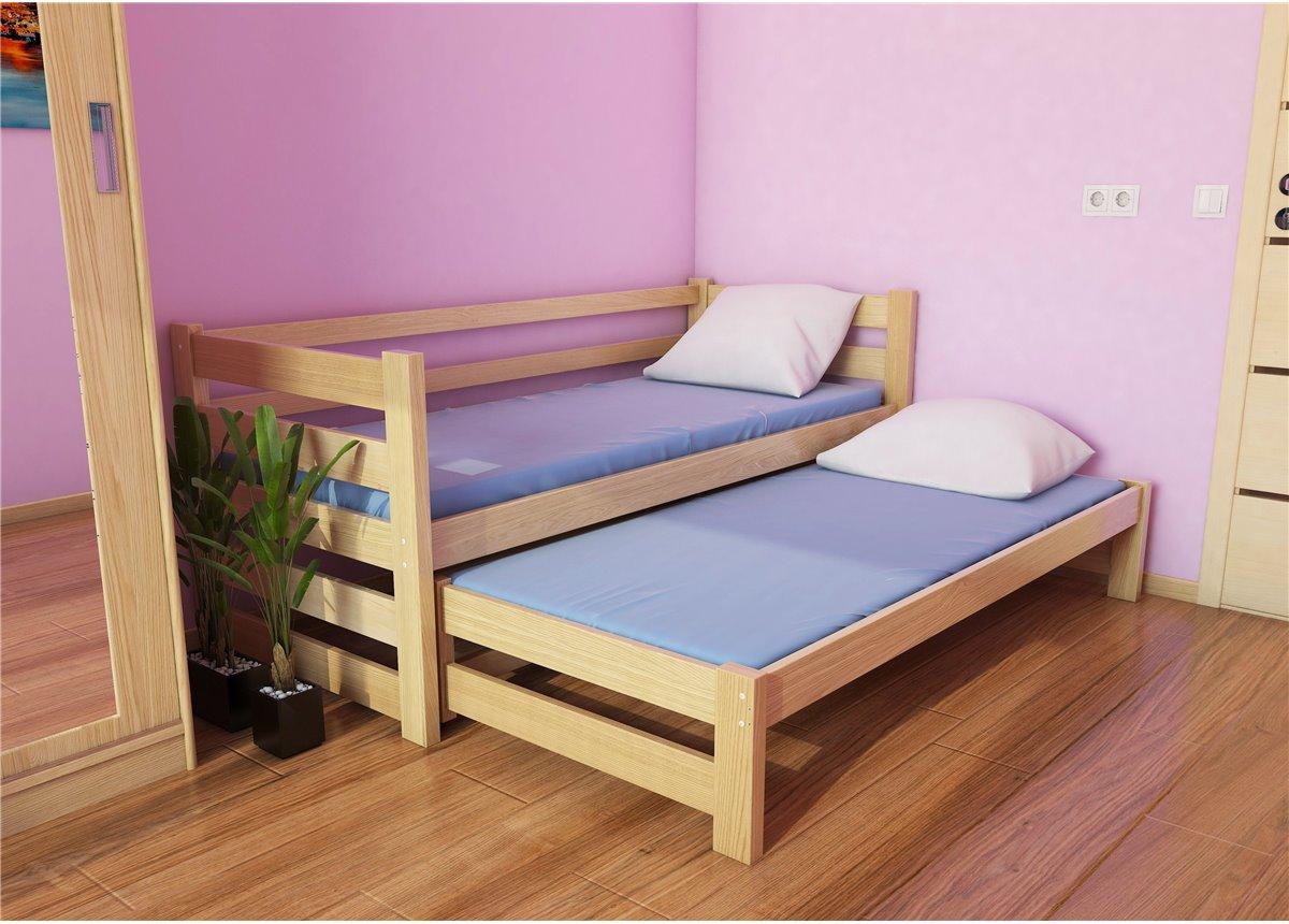 Кровать-диванчик Соня-1 с доп. спальным местом (масcив) Луна 80x190